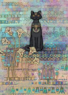 Ägyptische Katze - Jane Crowther 1000  - HEYE, German