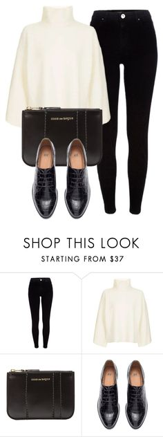 """Untitled #6447"" by laurenmboot ❤ liked on Polyvore featuring River Island, Topshop, Comme des Garçons and H&M"
