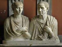 Cato és Portia mellszobra