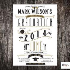 High School or College university Graduation invitation by ElleOL