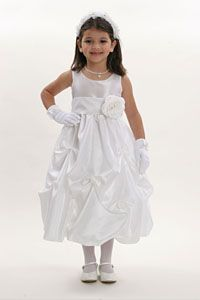 Flower Girl Dresses - Flower Girl Dress Style 3284- Choice of All White or All Ivory