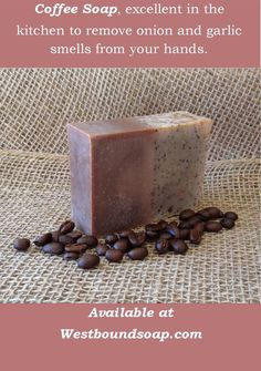 Coffee Exfoliating Handmade Scented Soap Cold Process This is my best seller and has sold out quite fast several times already! If it is currently in stock. I only make small batches and it Coffee Soap, Mocha Coffee, Homemade Beauty, Homemade Gifts, Exfoliating Soap, Tips & Tricks, Diy Spa, Soap Packaging, Goat Milk Soap