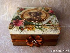 Decoupage antique box