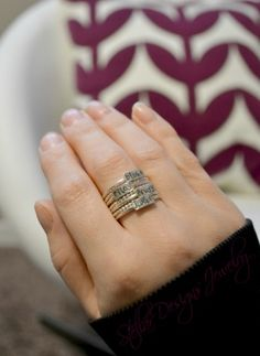 """These are my most favorite rings EVER!!!! Stacking name rings in sterling silver! You can have any name or word on your ring! """"You name it!"""" You can't beat Canadian handmade!!! $25 each www.stellardesignsjewelry.com"""