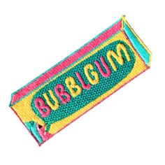 Bubblegum Patch - £10.12  https://www.etsy.com/uk/listing/186635160/80s-bubblgum-iron-on-patch-by-jess-warby?ref=shop_home_active_12