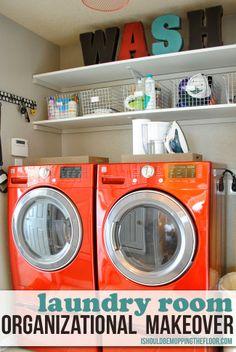 Elegant Lime Green Laundry Room