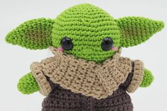 Amigurumi de Baby Yoda | CrochetyAmigurumis.com Big Hero 6, Dory, Spiderman, Crochet Hats, Etsy Shop, Mini, Handmade Gifts, How To Make, 3 Shop