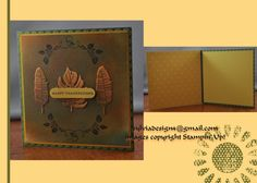 Happy Blooming Thanksgiving. Stampin up Thanksgiving Day card.