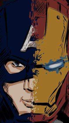 Iron Man Captain America iPhone Wallpaper – Marvel Comics – Marvel Univerce Characters image ideas tips Marvel Dc Comics, Marvel Avengers, Bd Comics, Marvel Art, Marvel Memes, Iron Man Wallpaper, Iron Man Captain America, Marvel Captain America, Marvel Universe