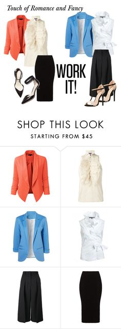 """""""Ruffles for Work"""" by josehline on Polyvore featuring LE3NO, Ralph Lauren, Erdem, Mat, 3.1 Phillip Lim, Charlotte Russe, women's clothing, women, female and woman"""