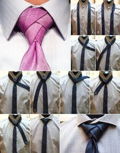 How to tie a tie - altern version Diy Fashion, Fashion Beauty, Fashion Tips, Mens Fashion, Eldredge Knot, Tie A Necktie, Necktie Knots, Cool Ties, How To Wear