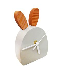 Bunny whisker clock #product #design at www.dotandbo.com