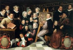 """The artist paints with his family ..."" - Otto van Veen (1556-1629)"