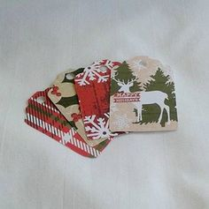 Rustic Outdoors Christmas Gift Tag Set of 24 by ThisandThatCrafter