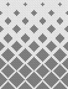 Ravelry: Fading Diamonds Blanket pattern by Jessica Z # 2 color crochet blanket pattern Fading Diamonds Blanket Tapestry Crochet Patterns, Crochet Stitches, Knit Crochet, C2c Crochet Blanket, Graph Crochet, Lace Knitting Patterns, Corner To Corner Crochet, Knitting Charts, Double Crochet