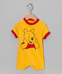 This Yellow Winnie the Pooh Romper - Infant by Winnie the Pooh is perfect! #zulilyfinds