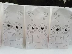 Monster Bash - Color a Monster Favor Bags Scary Monsters, Monster Party, Favor Bags, Favors, Container, Color, Goodie Bags, Presents, Guest Gifts