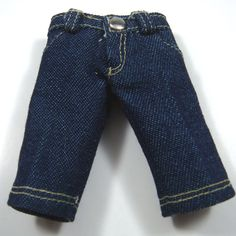 Classic Blue 4-Pockets Jeans for Lati Yellow