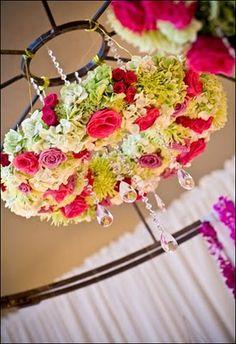 Gorgeous floral chandelier Wedding Events, Wedding Reception, Reception Ideas, Hanging Centerpiece, Hanging Decorations, Corona Floral, Dream Wedding, Wedding Day, August Wedding