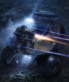 Halo 4 Art & Pictures, Master Chief & Warthog