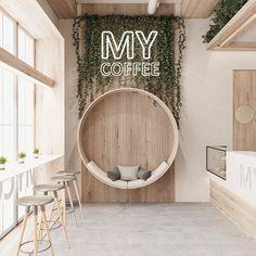 Cafe Shop Design, Coffee Shop Interior Design, Retail Interior Design, Restaurant Interior Design, Resturant Design Ideas, Pastry Shop Interior, Clinic Interior Design, Small Cafe Design, Retail Store Design