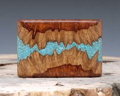 Exotic Wood & Turquoise Inlaid Belt Buckle  by ShandsDesign, $85.00