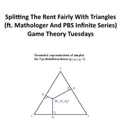 Splitting The Rent Fairly With Triangles (ft. Mathologer And PBS Infinite Series). Game Theory, Mind You, Being A Landlord, Infinite, Tuesday, Mindfulness, Math, Games, Triangles