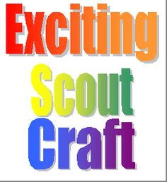 Exciting Scout Crafts  THE COOLEST SLIDES & CRAFTS I HAVE EVER SEEN.