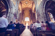 Sherborne Abbey wedding ceremony photograph by one thousand words wedding photographers www.onethousandwords.co.uk