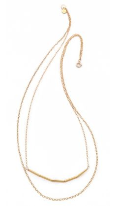 Gorjana Ava Layer Necklace - the the delicate simplicity of this necklace.