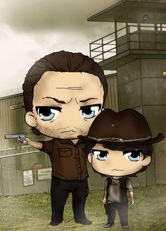 RICK AND CARL WALKING DEAD | deviantART: More Like The Walking Dead chibi: Michonne by neoanimegirl
