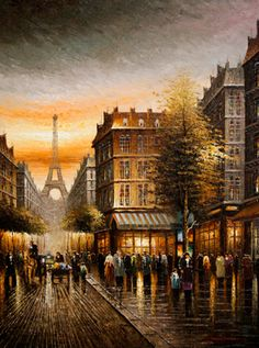 oil painting for oil paintings pg eiffel tower paris scene