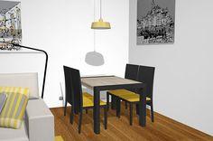 Mesa transformable en un salón comedor diferente