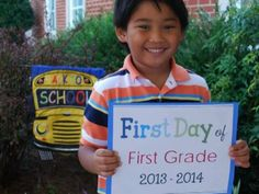 1st Day of school poster freebies 2014-2015