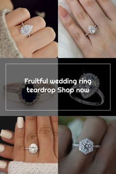 Fruitful wedding ring teardrop Shop now Wedding Rings Teardrop, Diamond Earrings, Shop Now, Engagement Rings, Fruit, Crystals, Shopping, Jewelry, Enagement Rings