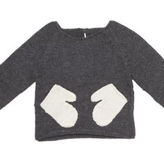 Oeuf sweater with mittens as pockets