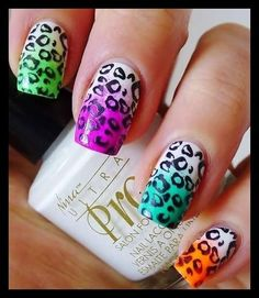 Colorful gradient nails   #nails #nailart #summercolors #colorfulmani - bellashoot.com