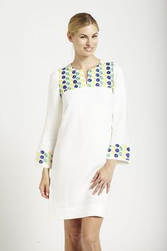Parasol — Embroidered Linen Day Dress Collection - Linen Dress with Floral Embro
