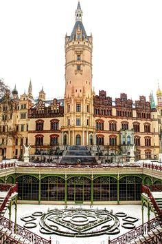 Das Schweriner Schloss Schwerin (Mecklenburg-Vorpommern), Germany