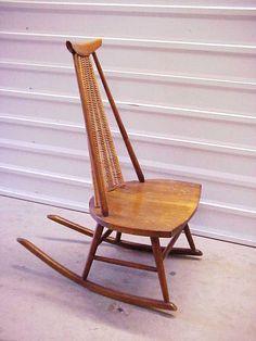 Nakashima Trapezoid Rocking Chair Rocker