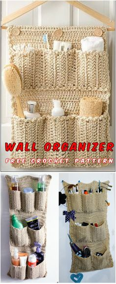 Free Crochet Pattern Many times I was considering how to make perfect wall organizer, I followed many sites and patterns and finally, I found