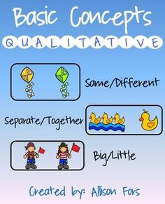 Great way to practice qualitative concepts with these fun pictures!