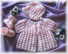 ༺ GizemliM ༻ ponpon desenli örgü bebek elbiseleri