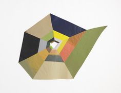 Matt Rich, Spiral, latex paint on cut paper & linen tape,  2010, 71 inches x 93 inches , Courtesy of Samsøn Project and artist
