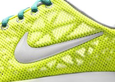 Nike, neon, yellow, mesh, padding, breathable, see through, shoe, fabric, textile