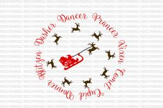 Reindeer Names Rudolph Digital File SVG Cut Files Santa Christmas Cookie Plate Vinyl Ready File Silhouette Cricut Commercial Use  This purchase contains digital media only.  If you are concerned about whether my files will work with your cutting machine, below you will find a list of vinyl cutters and the files compatible with each.  * Cricut Design Space: DXF & SVG  * Silhouette Studio Designer Edition: SVG  *Brother ScanNCut: SVG  * Sure Cuts A Lot: SVG  * Make the Cut: SVG  Message me if…