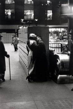 Louis Faurer. Penn Station, New York City,  1948 (the old McKim, Mead and White designed Penn Station, sadly torn down in 1963, provoking 'international outrage').
