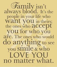 Family is everything, family is life