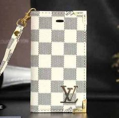 Louis Vuitton iPhone 6 and iPhone 6 Plus White Damier case Designer Wallet Cover 2015 - High End Case - iPhoneProtectiveCases.com