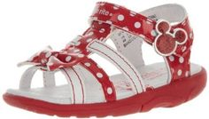 Stride Rite SRT Minnie Sandal (Toddler) Stride Rite. $39.70. Rubber sole. Character silhouette decoration on the side. Hook and loop closure on instep strap for easy on and off. Premium leather linings for breathability. synthetic. Girls Stride Rite, Disney Baby SRT Minnie Mouse Sandal. An adorable Disney themed sandal with a Faux patent upper